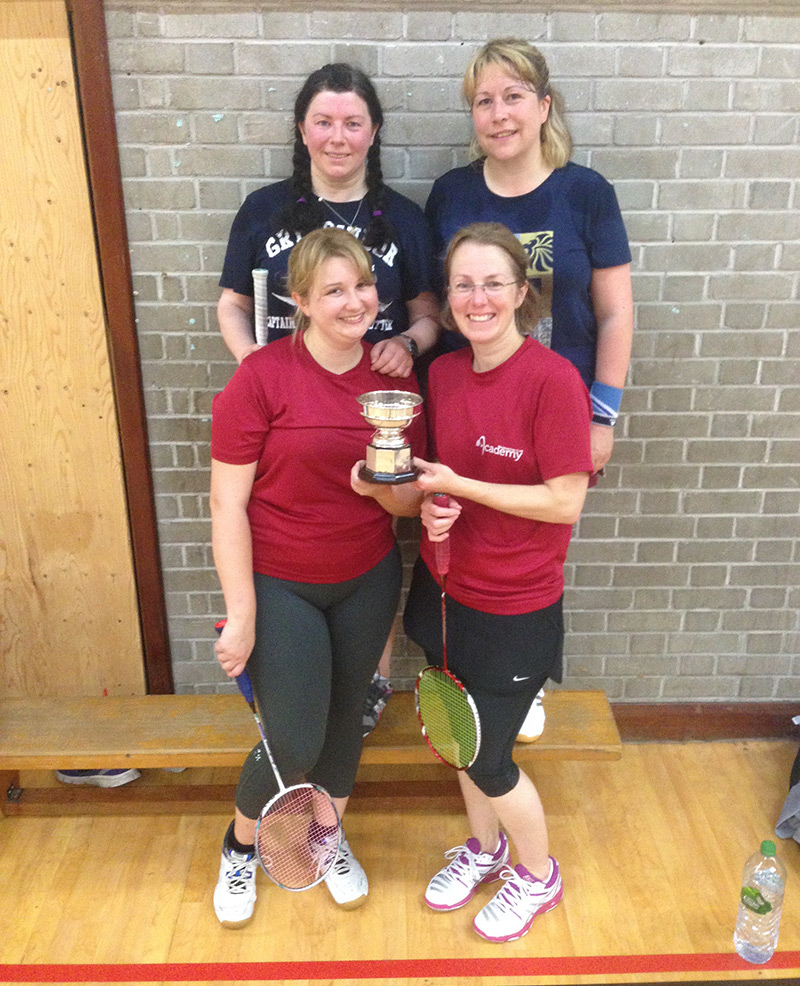 Academy Badminton Women 2015-16 Division winners
